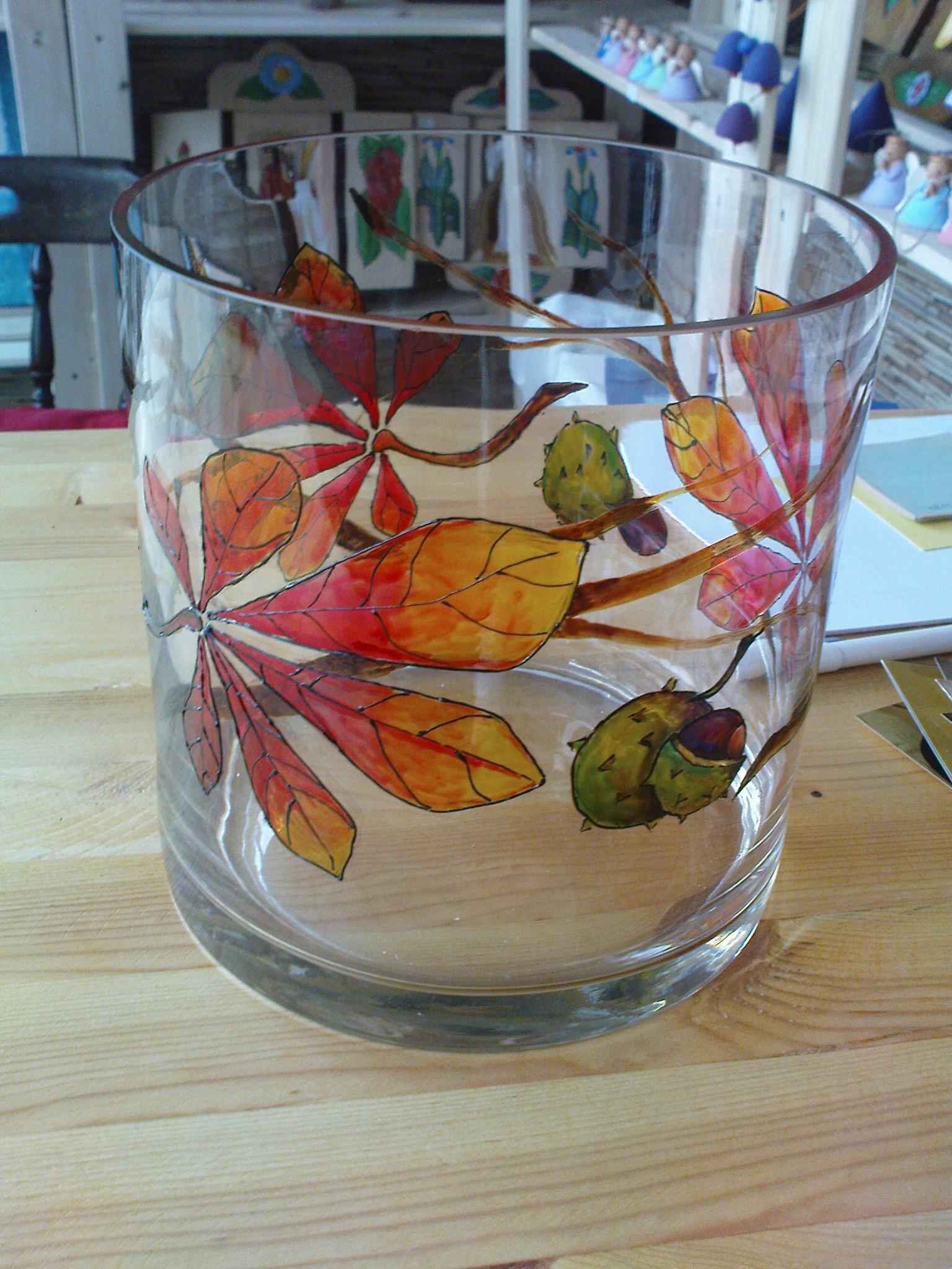 Malowane szkło - wazon
