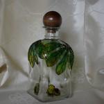 Malowane szkło - butelka z korkiem
