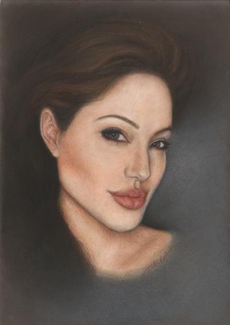 Portret pastelowy - Angelina Jolie