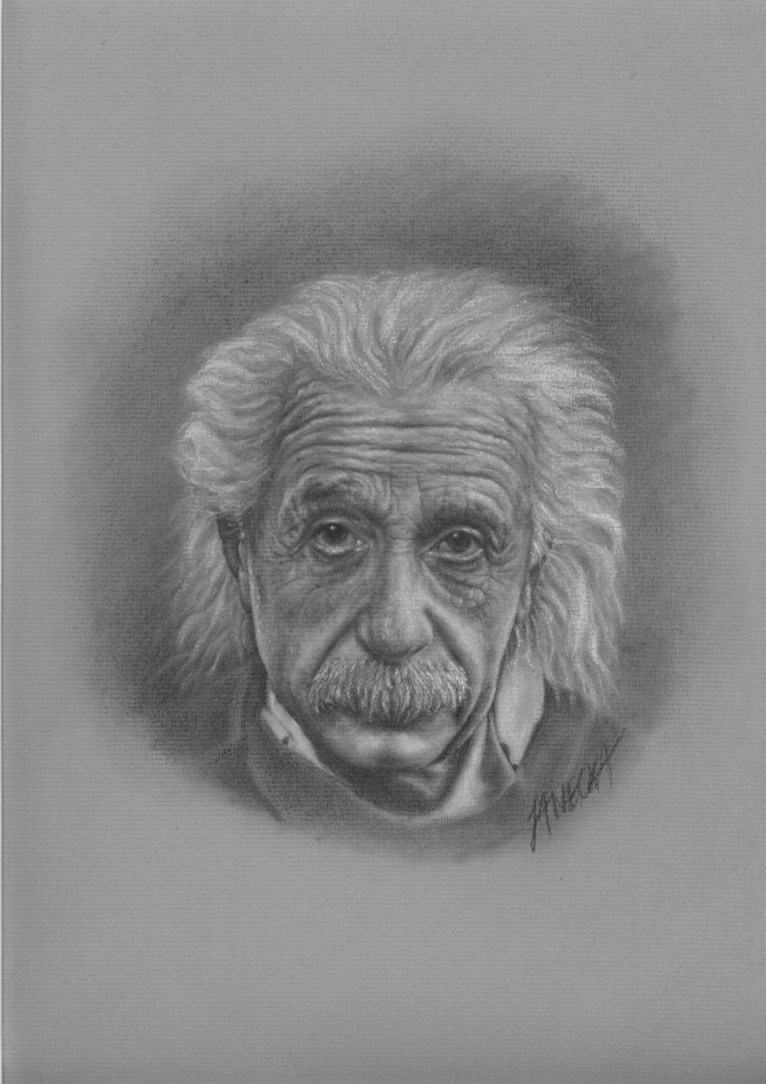 Portret ołówkiem - Einstein