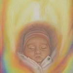 Portret pastelowy - dziecko, aniołek